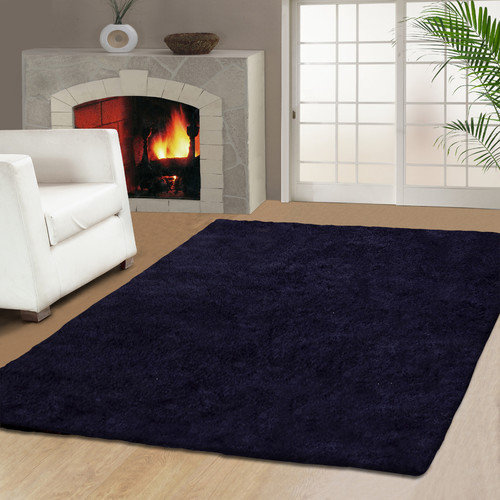 Simple Luxury Superior Hand Tufted Purple 5' x 8' Area Rug
