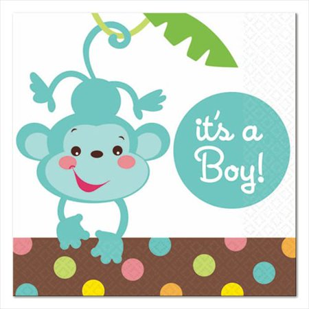 Fisher Price Baby Shower Boy Napkins - Fisher Price Baby Shower Party Supplies