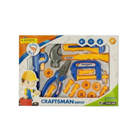 Kole Imports KL232-8 Kids Construction Tool Play Set, Pack of 8 - image 1 de 1