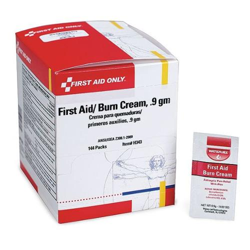 FIRST AID ONLY H343 First Aid/Burn Cream, 0.9g, PK144