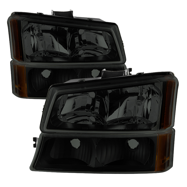 Xtune 9030253 Headlight Assembly  Standard Beam; Black Housing; Crystal Black Smoke Lens; Uses Stock Bulb; Set Of 2; With Bumper Lights - image 1 de 1