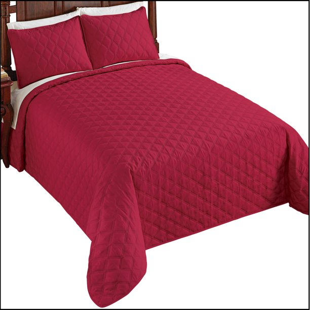 Classic Solid Color All-Over Diamond Quilted Bedspread ...