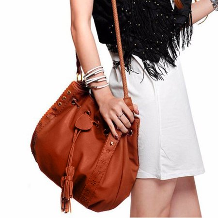 IUNeed Lady Handbag Shoulder Bag Tote Purse Leather Women Messenger Hobo Bags (Patent Leather Messenger)