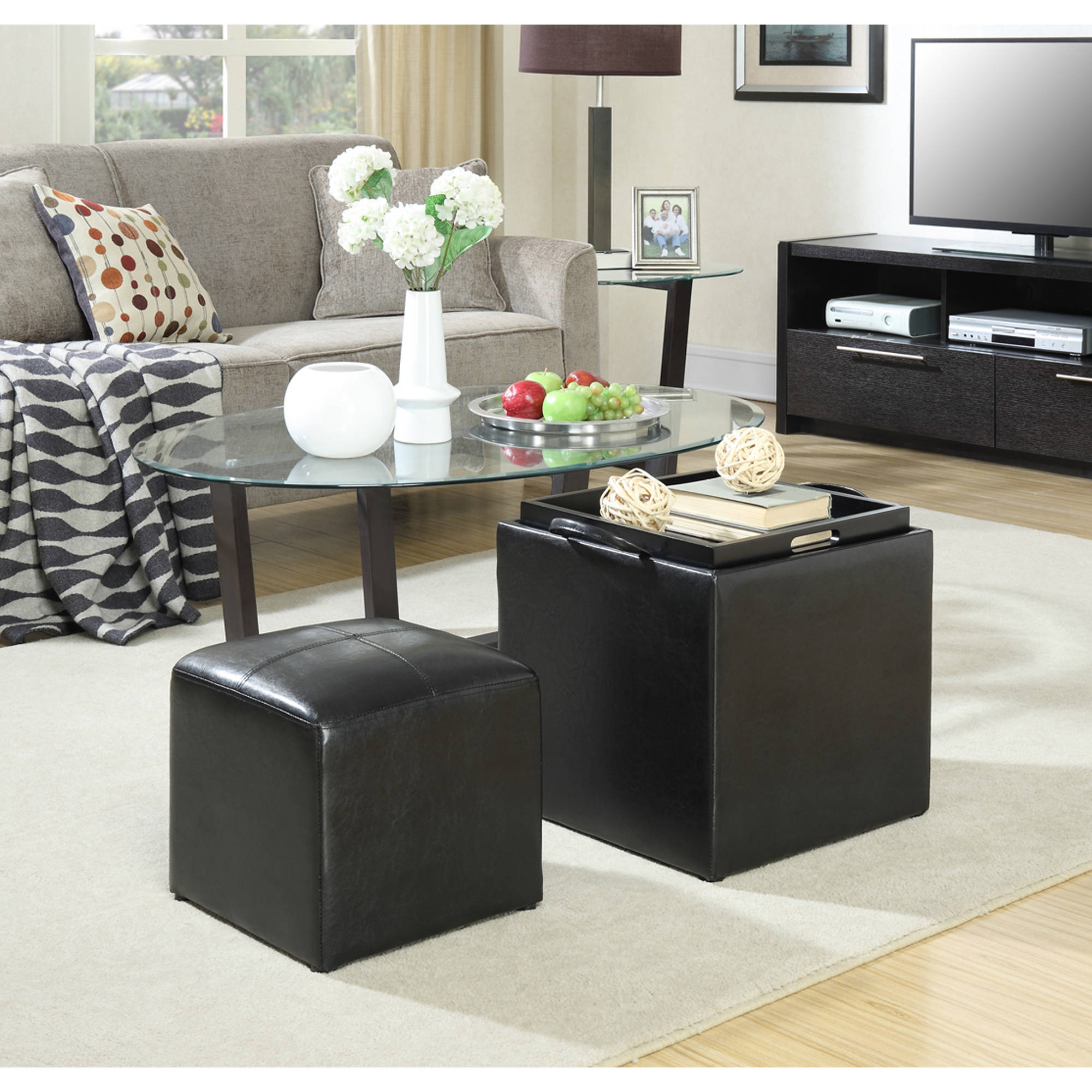 Convenience Concepts Designs4Comfort Park Avenue Storage Ottoman, Multiple Colors