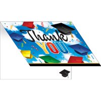 Pack of 75 Colorful Graduation Celebration Thank You Cards 9.25""