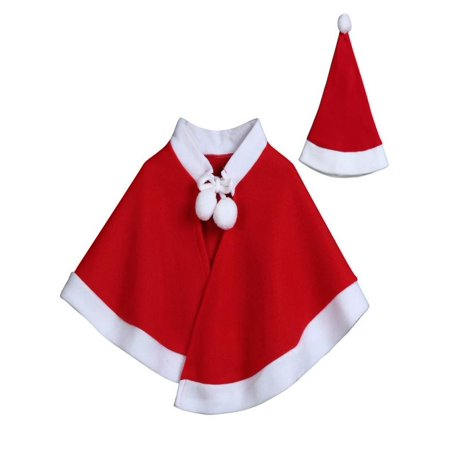 Christmas Baby Costume (Outtop Kids Childrens' Christmas Costume Cosplay Cape Cloak for Baby Boys Girls)