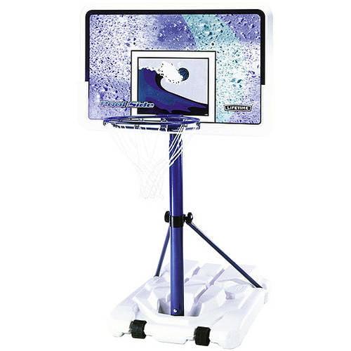 "Lifetime 44"" Pool Side Portable Height Adjustable Basketball Hoop, 1301 by Lifetime"