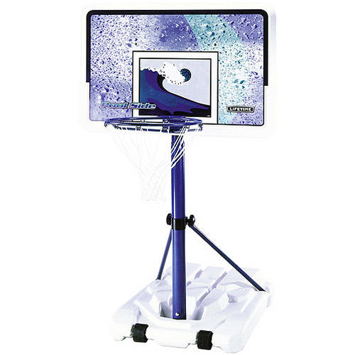 "Lifetime 44"" Pool Side Portable Height Adjustable Basketball Hoop, 1301"