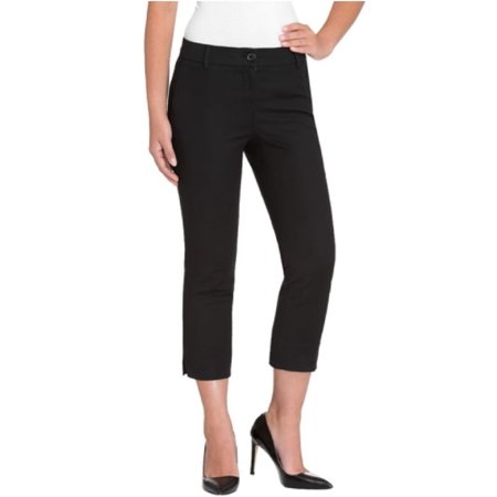 Hilary Radley Women's Stretch Slim Leg Crop Pant (16, Black) ()