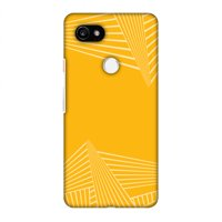 Google Pixel 2 XL Case, Premium Handcrafted Printed Designer Hard Snap On Case Back Cover with Screen Cleaning Kit for Google Pixel 2 XL - Carbon Fibre Redux Cyber Yellow 3