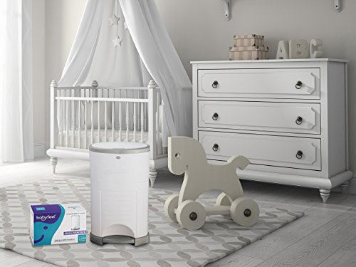 Dekor Plus Refill 4 Pack with New Powder Scent Holds up to 2320 Diapers Fits Dekor Plus Diaper Pails
