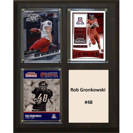 C   I Collectables Ncaa 8  X 10  Rob Gronkowski Arizona Wildcats 3 Card Plaque