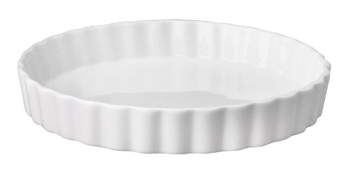 HIC Round Quiche Dish, White, 7.75 by 1.25-inch by HIC Harold Import Co.