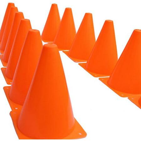 Dazzling Toys Pack 24 7 inch Orange Plastic Traffic Cones - Small Traffic Cones