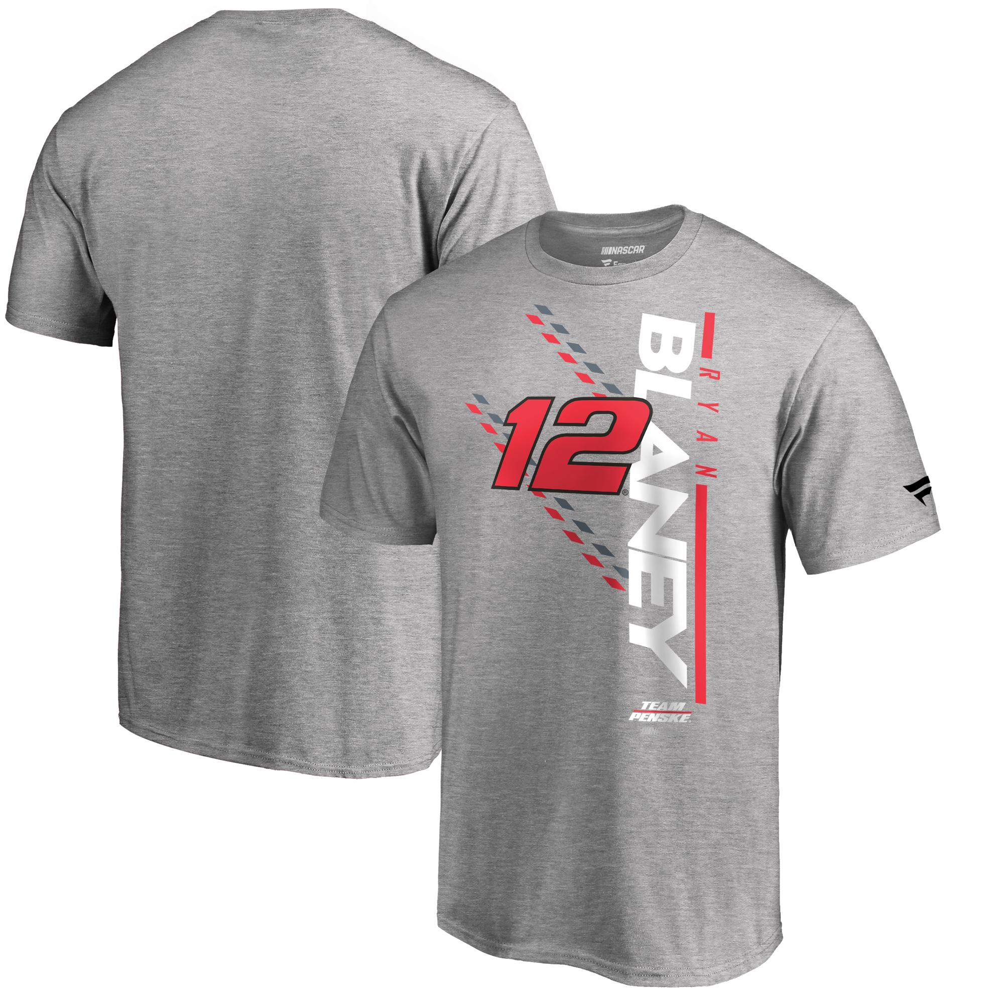 Ryan Blaney Fanatics Branded NASCAR Track Bar T-Shirt - Heather Gray