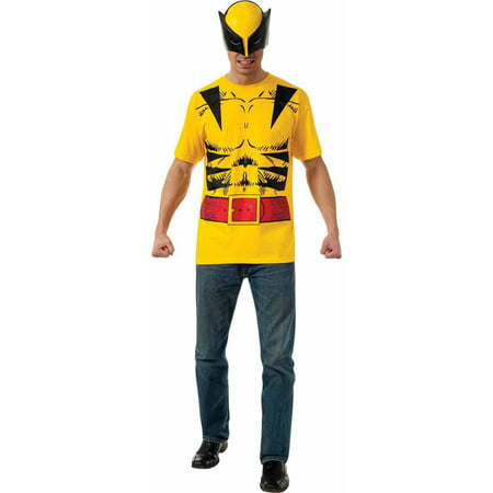 Superhero T-Shirt Adult Costume Wolverine - Large
