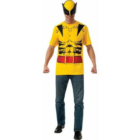 Superhero T-Shirt Adult Costume Wolverine - Large