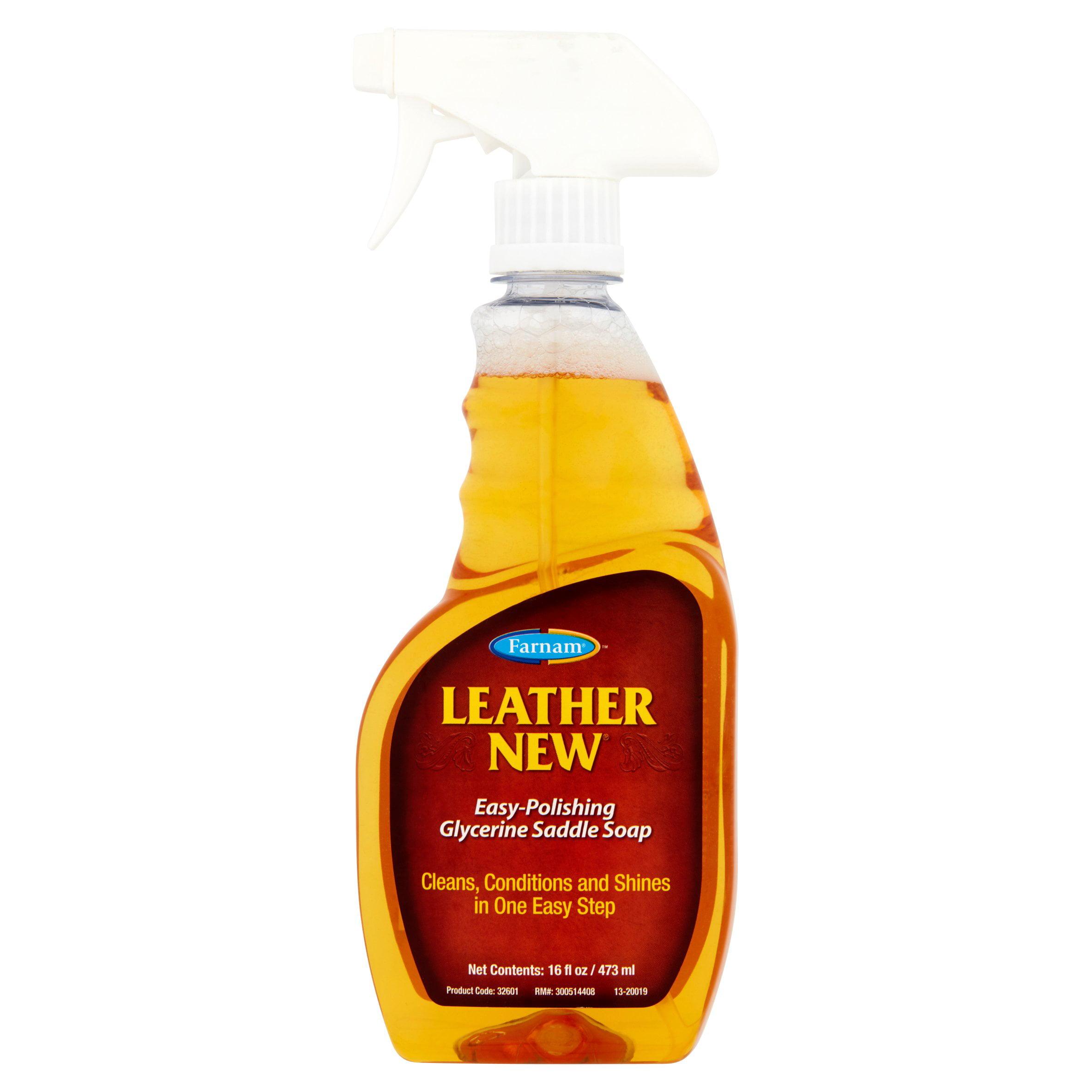Farnam Leather New Easy-Polishing Glycerine Saddle Soap, 16 fl oz