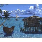 Printfinders 'Caribbean Dreams' by Scott Westmoreland Graphic Art on Canvas