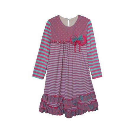 c3951f29b Isobella   Chloe - Isobella   Chloe Little Girls Magenta Striped ...