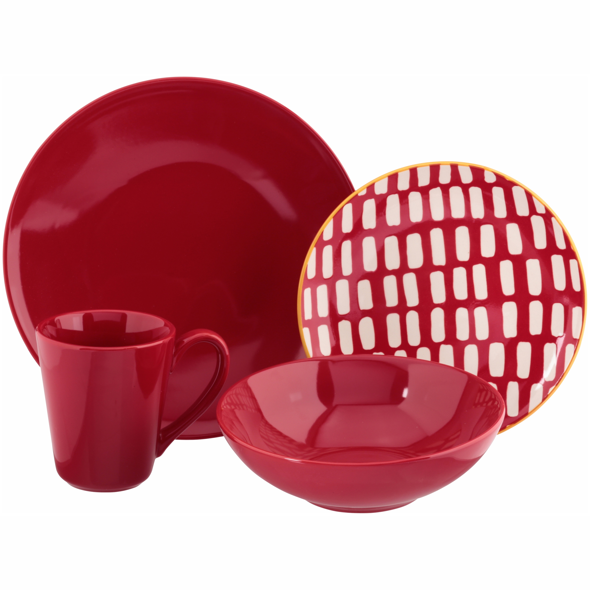 Baum Red Dashed Lines Stoneware 16-Piece Dinnerware Set  sc 1 st  Corporate Perks Lite Perks at Work & Baum Metro 3-Tone Stoneware 16-piece Dinnerware Set - Corporate ...