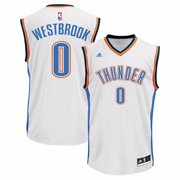 Russell Westbrook Oklahoma City Thunder NBA Adidas Mens White Official Home Replica Jersey