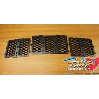 2014-2016 Jeep Grand Cherokee Black Honeycomb Grille Inserts Mopar OEM