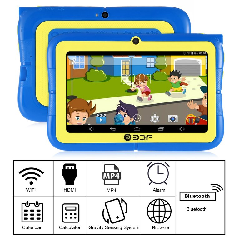 7 inch Screen ARM Quad Core 1.3GHz for Android Wifi Dual Camera Mini Children Kids Tablet PC Leaning Educational Toys