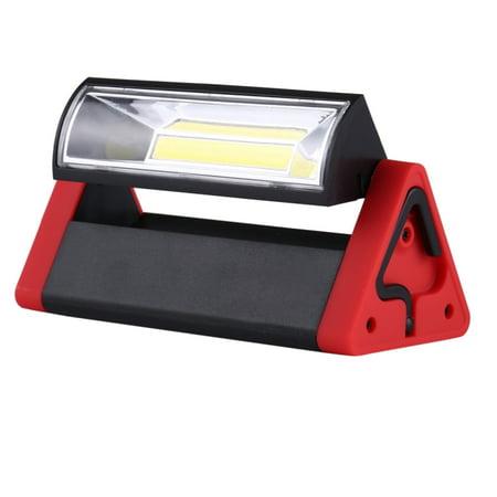 LED Work Light, LED Emergency 4W COB Work Light Adjustable with Magnet and Hanging Hook, 180 Degree Rotation Camping Flashlight