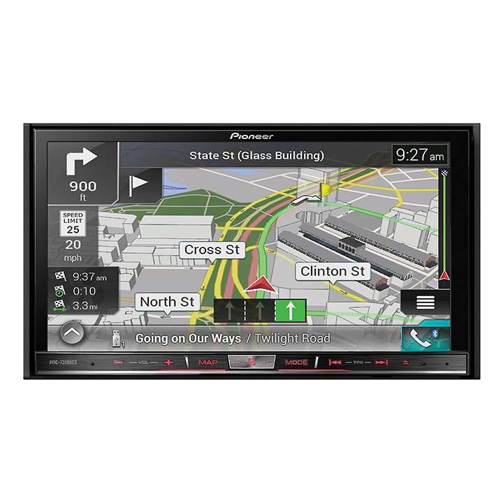 """Pioneer 7"""" D.Din Nav Receiver w BTApple CarPlay by Pioneer"""