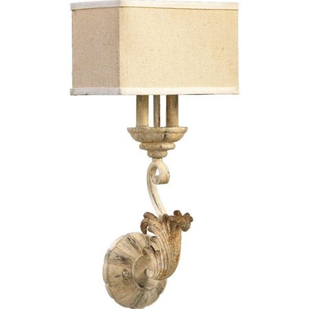 Quorum Florence 2 Light Wall Light in Persian White
