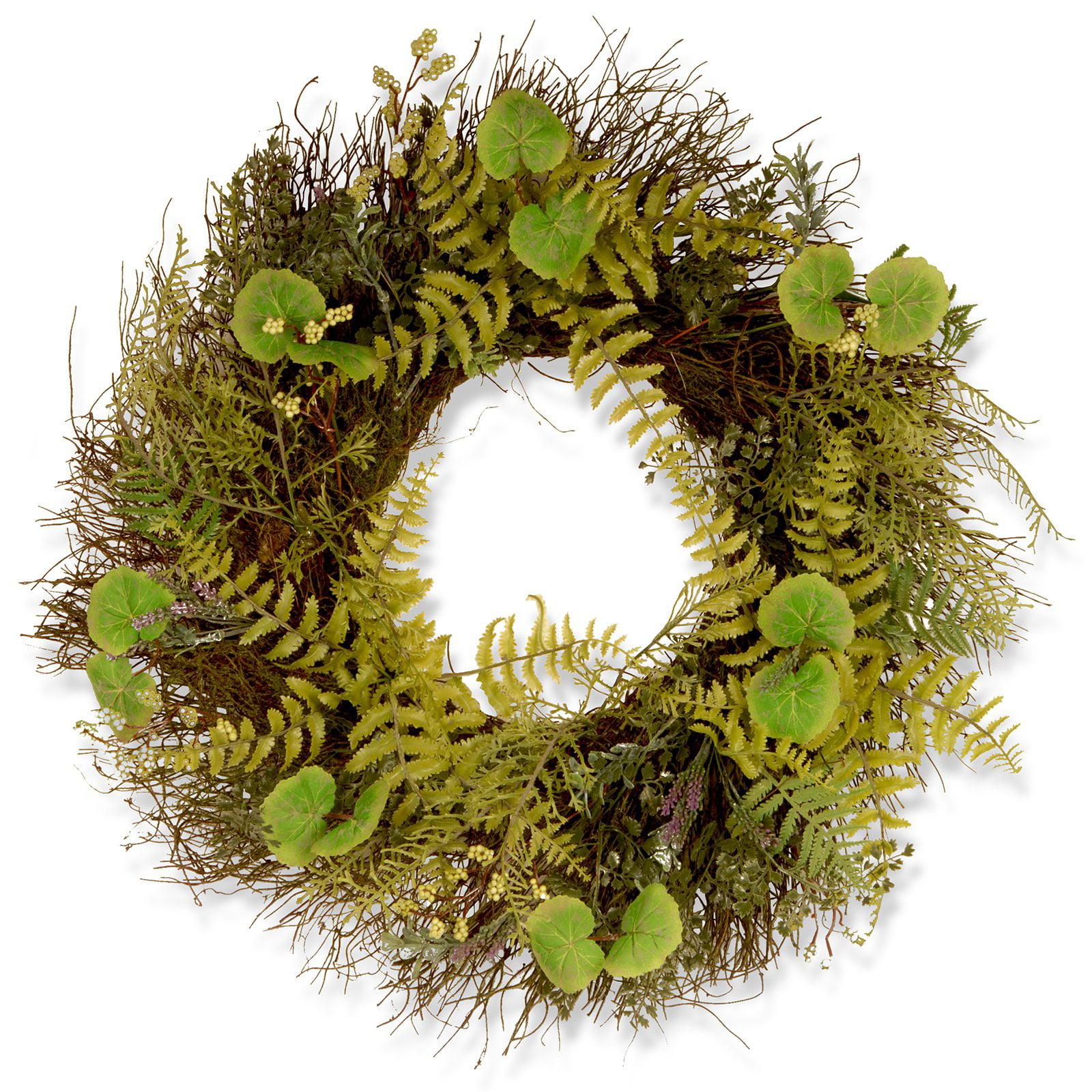 "24"" Garden Accents Fern and Lavender Wreath"