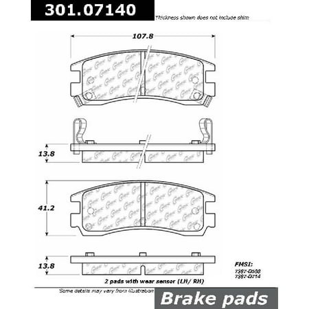 Saturn Sl1 Rear Brake (Go-Parts OE Replacement for 1991-1998 Saturn SL1 Rear Disc Brake Pad Set for Saturn SL1 )