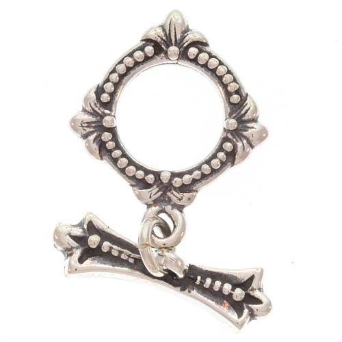 Bali Sterling Silver Victorian Style Toggle Clasp 16mm