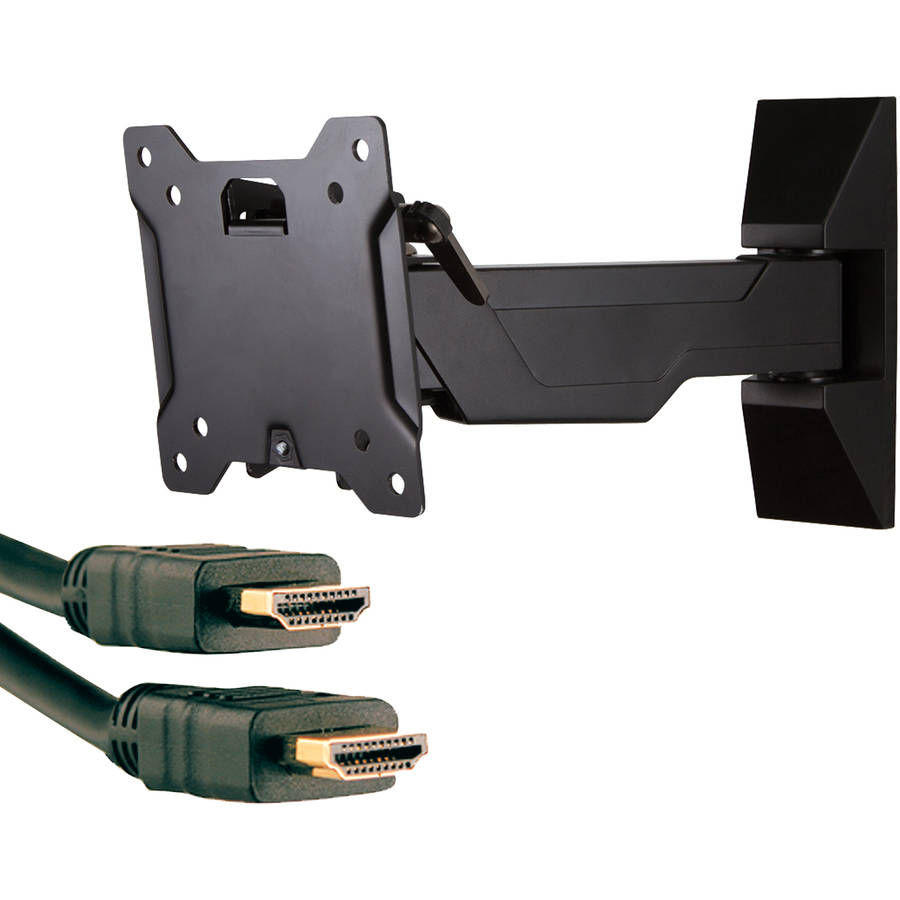 """Omnimount OC40FM 13""""-37"""" OmniClassic Full-Motion Mount and Axis 41204 High-Speed HDMI Cable with Ethernet, 9'"""