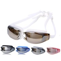 Swim Goggles for Adult Unisex No Leaking Clear-UV Protection, Anti-Fog, Mirror Coated Lens Swimming Goggles with Protection Case