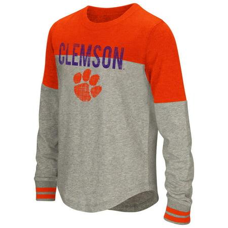 Youth Girls' Baton Clemson University Tigers Long Sleeve Shirt