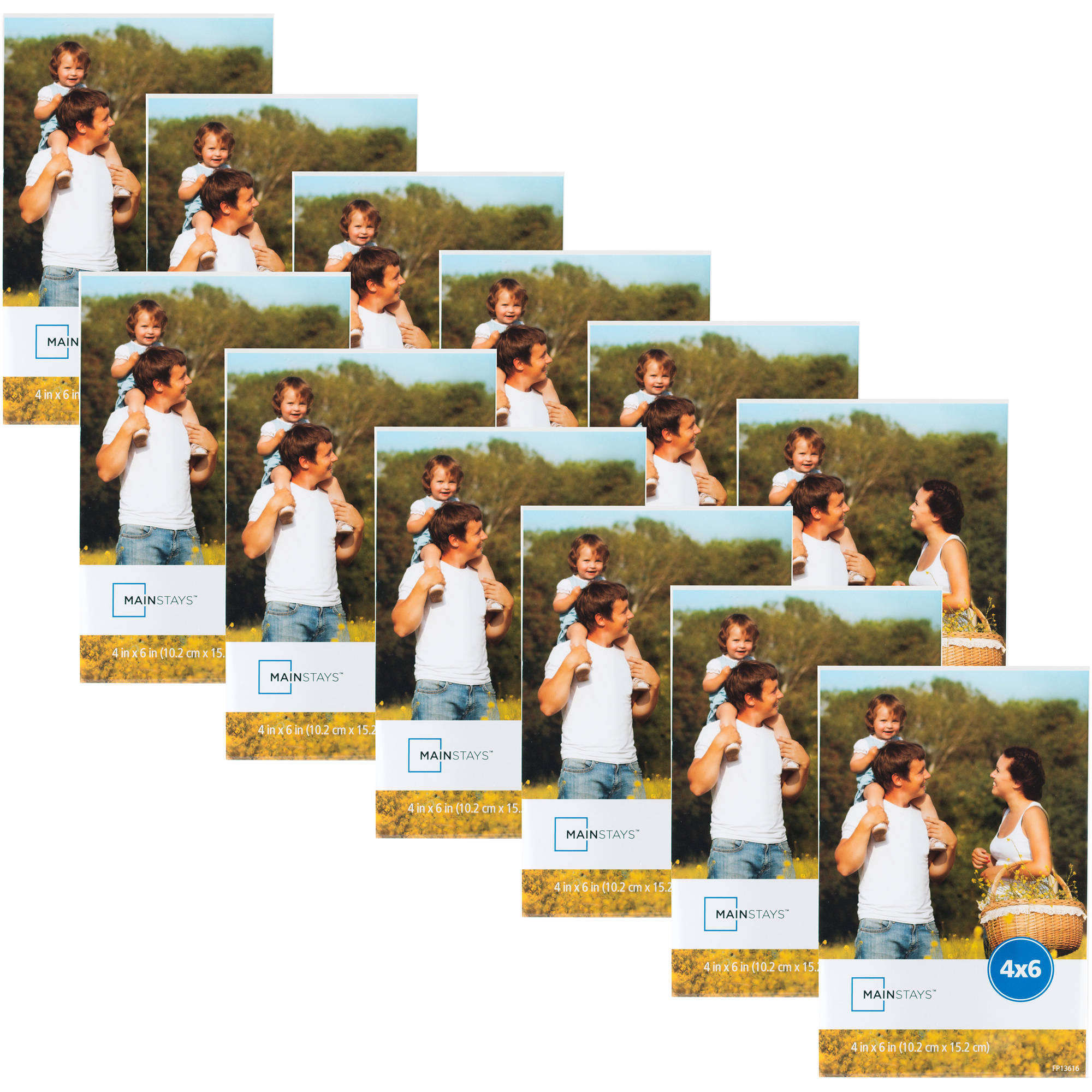 "Mainstays 4"" x 6"" Clear Magnetic Frame, Set of 12"