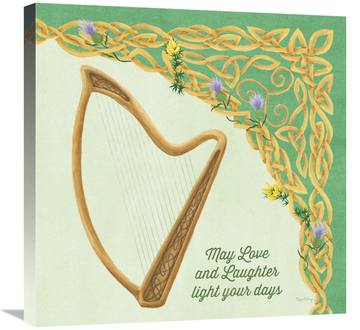 Global Gallery's 'Celtic Charm II' By Elyse DeNeige Stretched Canvas Wall Art