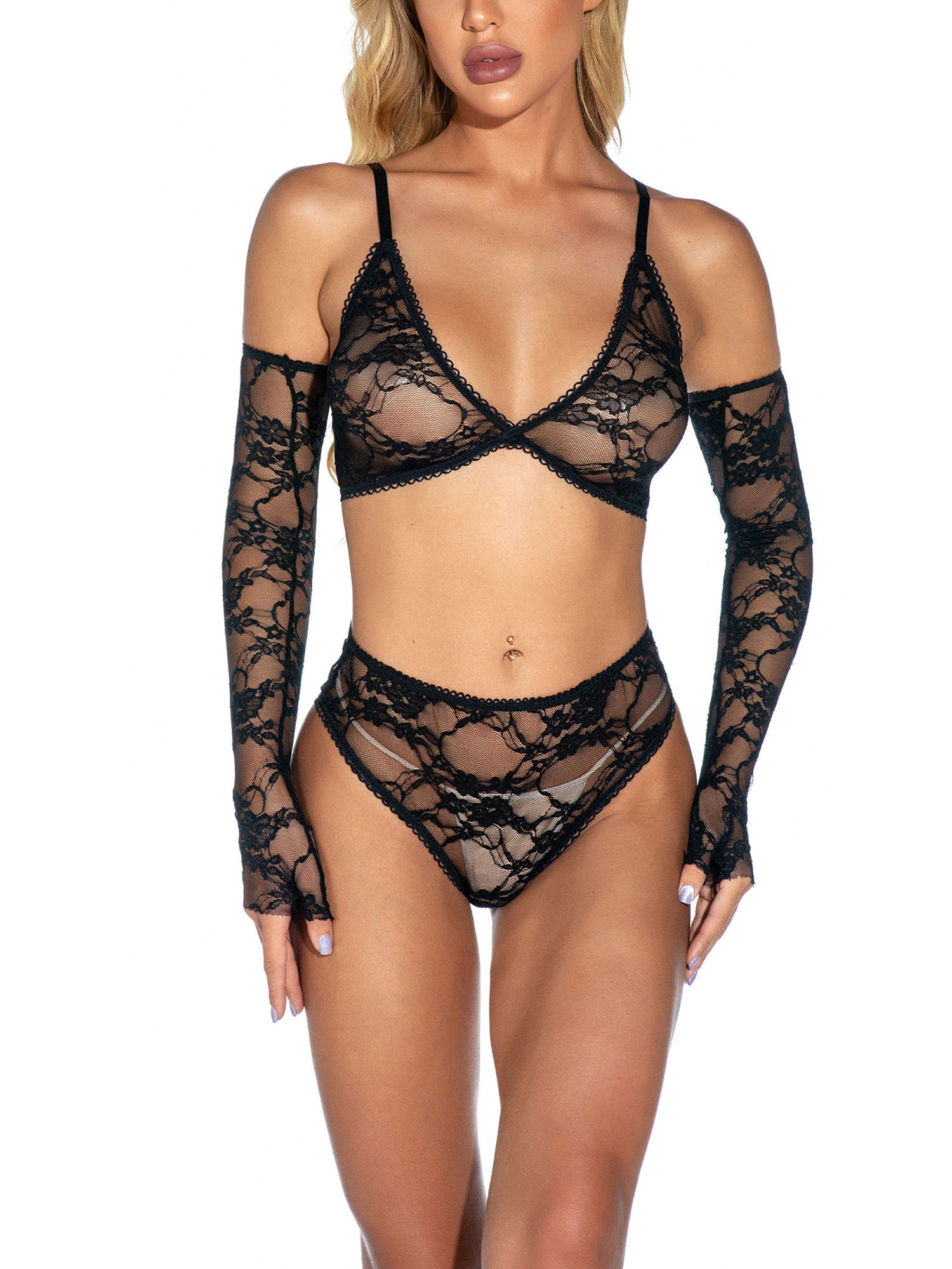 Details about  /Sexy Lingerie Lace Bra+G-string Thong Set Babydoll Sleepwear Underwear Nightwear