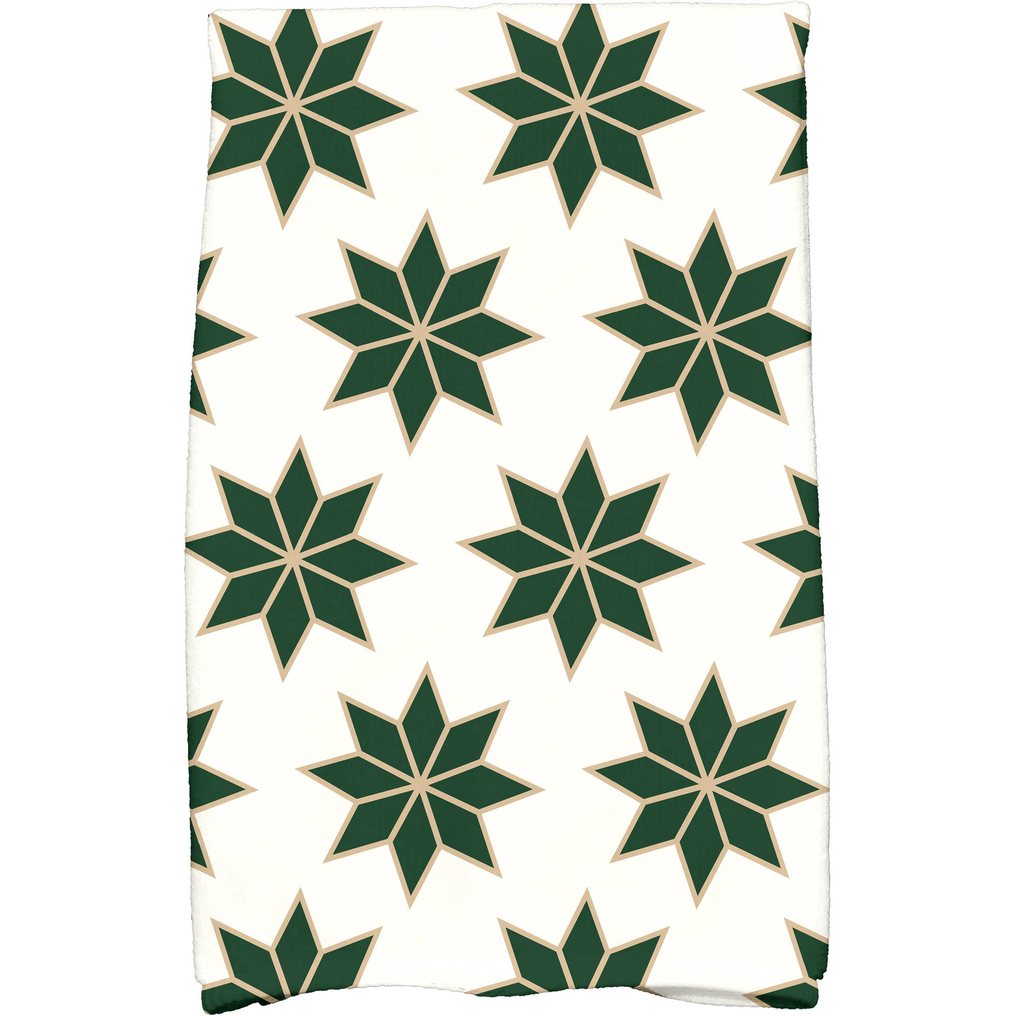 "Simply Daisy 16"" x 25"" Christmas Stars 2 Holiday Geometric Print Kitchen Towel"