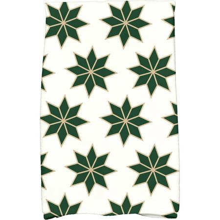 "Simply Daisy 16"" x 25"" Christmas Stars 2 Holiday Geometric Print Kitchen Towel"