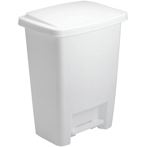 Rubbermaid Step On Trash Can, 8.3 Gal, White