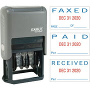 Xstamper, XST40330, Self-Inking Paid/Faxed/Received Dater, 1 Each