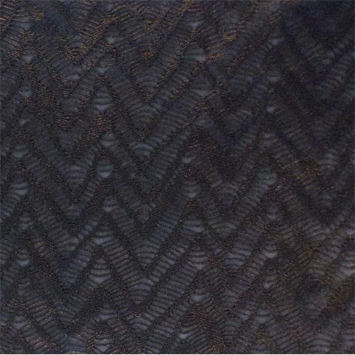 Black/Copper Chevron Lace Stretch Mesh, Fabric By the Yard
