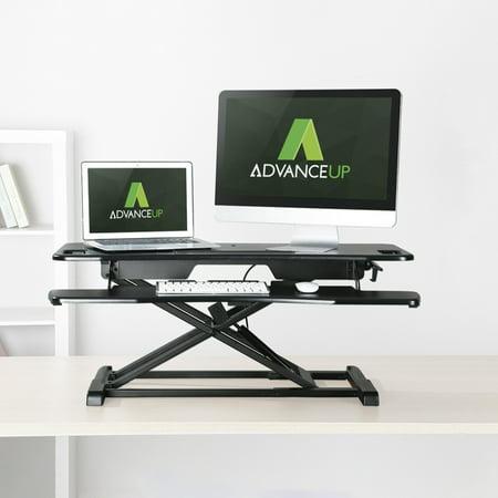 AdvanceUp 2-Tier Standing Desk Converter Adjustable Workstation, (Best Shoes For Standing Desk)