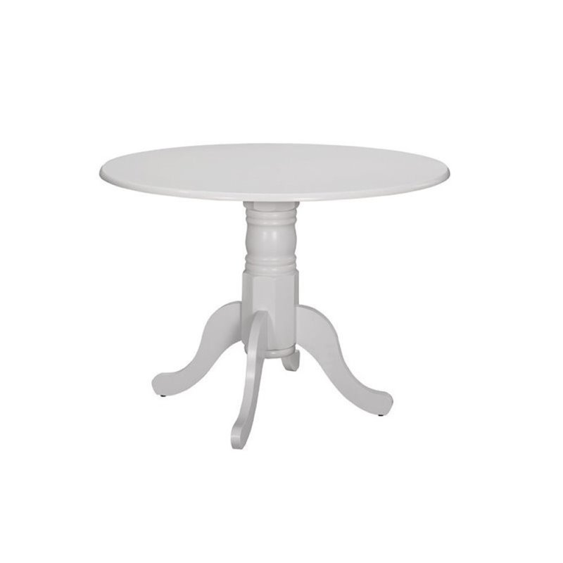 Bowery Hill Round Dining Table in White by Bowery Hill