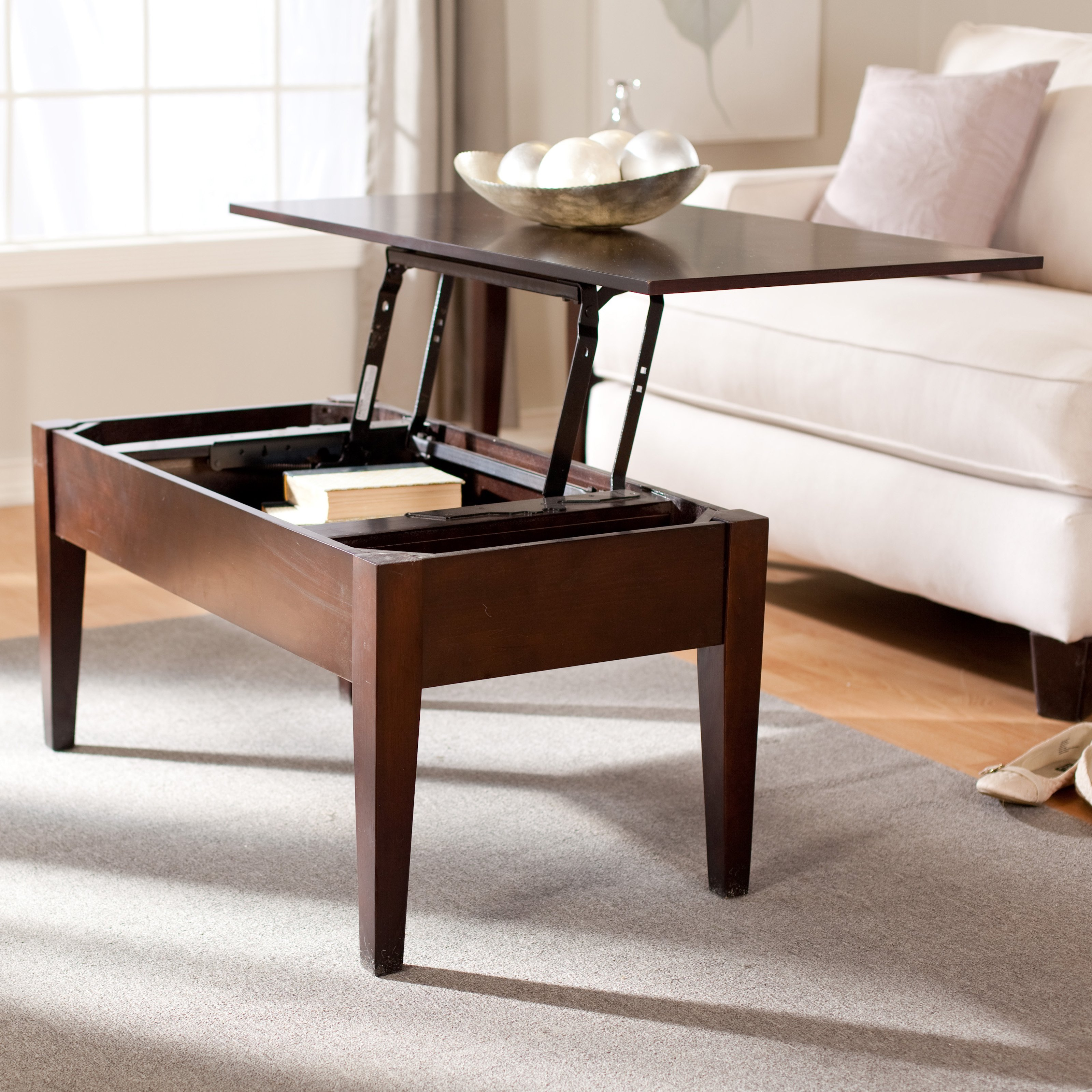 Turner Lift Top Coffee Table Espresso Walmart