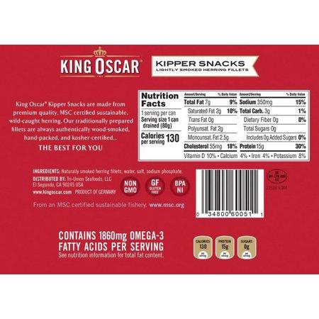 King Oscar Kipper Snacks 12-3.54 Ounce