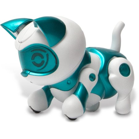 Tekno Robotic Pets  Newborn Kitty  Teal
